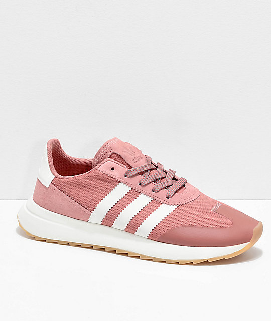 Women's Adidas Flashback Raw Pink & White Shoes Pink Size 7