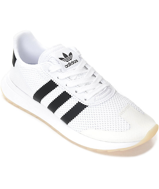 adidas Flashback White & Black Shoes ...