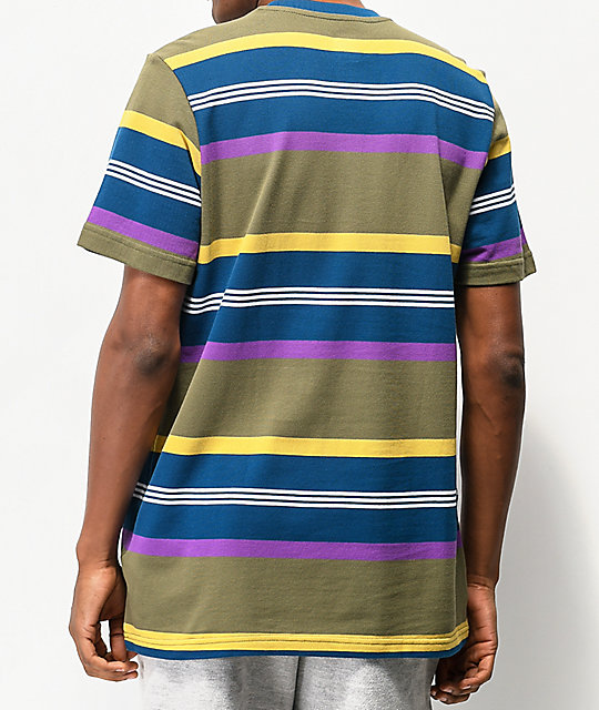 adidas Grover Multi-Striped Pique T-Shirt