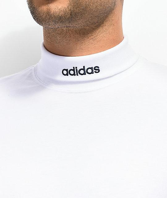 adidas polo neck t shirt