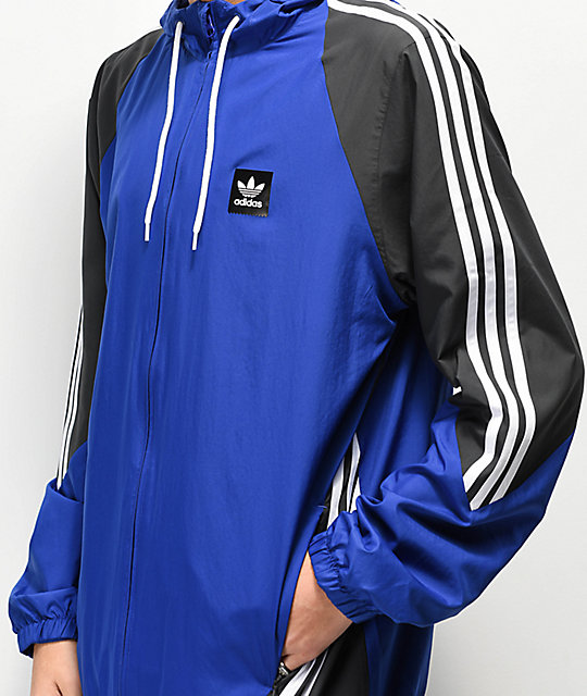 adidas Insley Blue, Black & White Windbreaker Jacket