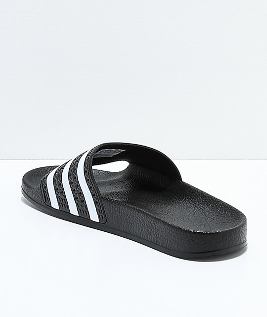 065eb3328d70 ... adidas Kids Adilette Black Slide Sandals ...