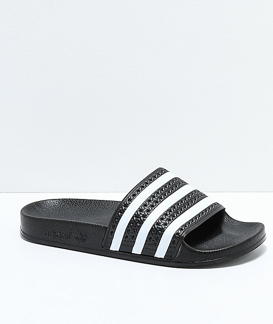 adidas Kids Adilette Black Slide Sandals