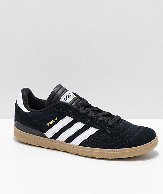 adidas Kids Busenitz Pro Black, White & Gum Skate Shoes