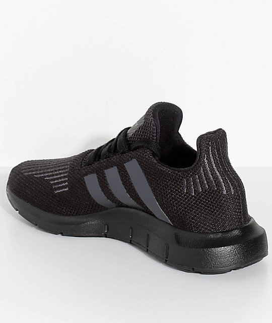 adidas Kids Swift Run Core & Utility Black Shoes