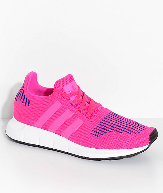 adidas Kids Swift Run Shock Pink   White Shoes  69528e687