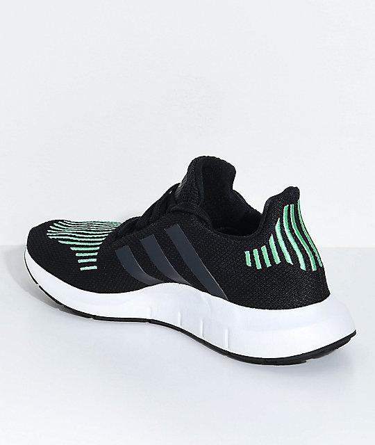 5ca3c52f4905 ... adidas Kids Swift Run Utility Black   White Shoes ...