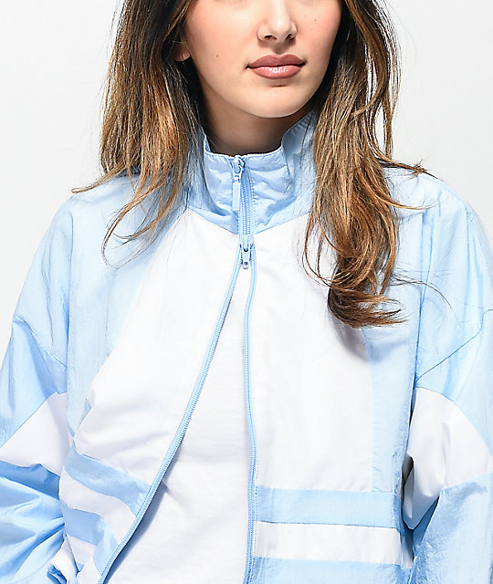 adidas Large Logo Blue Windbreaker Jacket