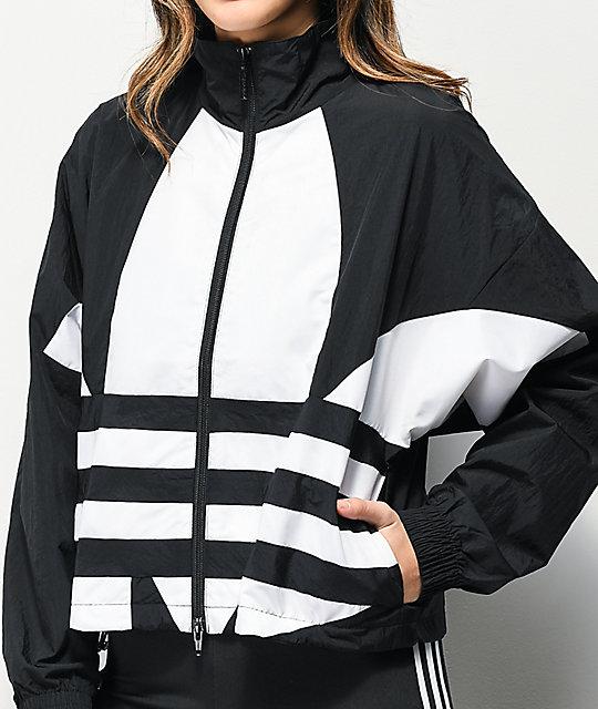 Desilusión Se asemeja Constituir  adidas Large Logo chaqueta cortavientos negra   Zumiez