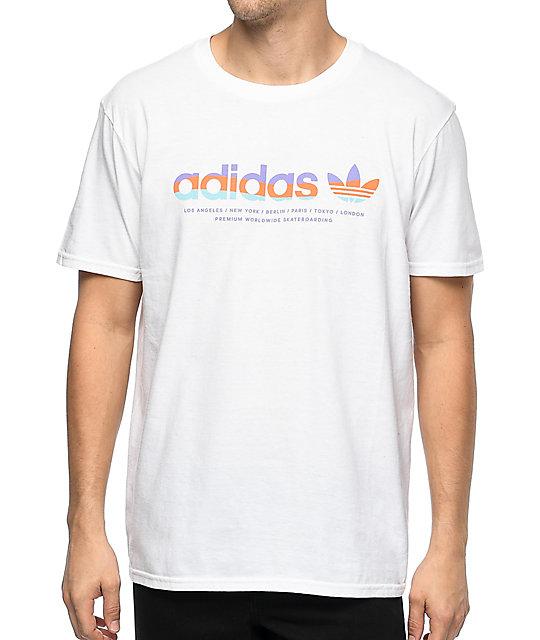 Adidas Shirt Linear Linear Adidas White T PknO08wX