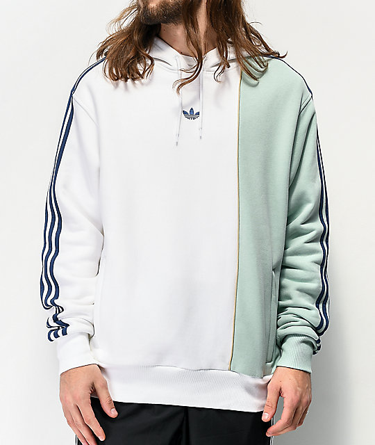 adidas Locker White & Mint Green Hoodie