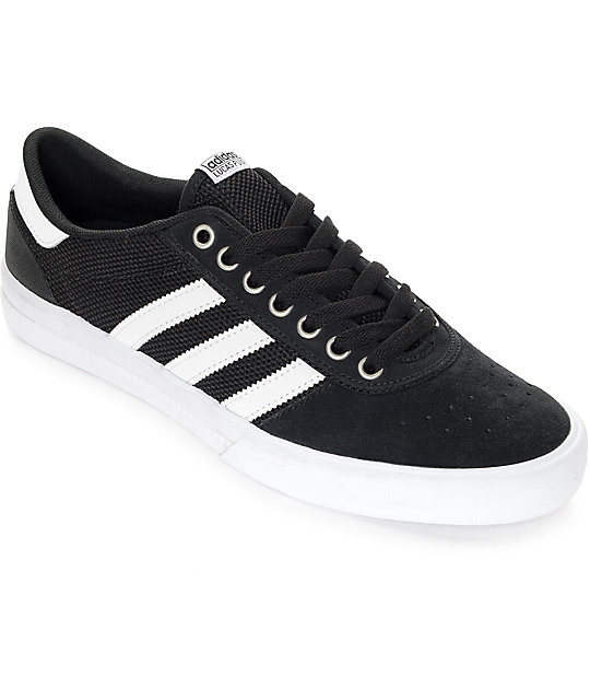 info for ae551 08ae2 adidas Lucas Premiere ADV Black   White Suede Shoes   Zumiez