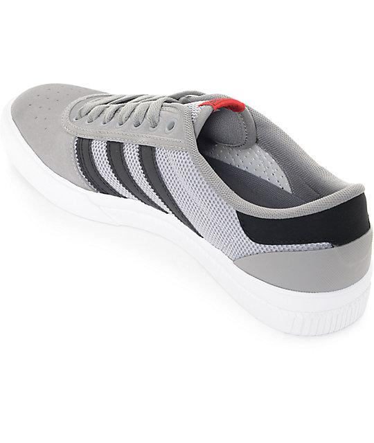 adidas Lucas Premiere ADV Grey, Black & White Suede Shoes