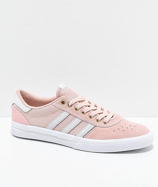 adidas Lucas Premiere Rose Blanc Chaussures Zumiez