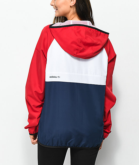 Adidas Mi Skate Red White Blue Windbreaker Jacket Zumiez