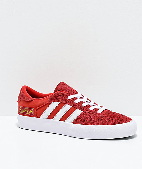 adidas Matchbreak Super Red, White & Gold Shoes