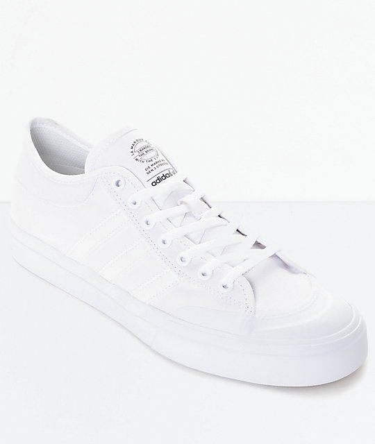 official photos 02393 1c2e6 adidas Matchcourt All White Shoes   Zumiez