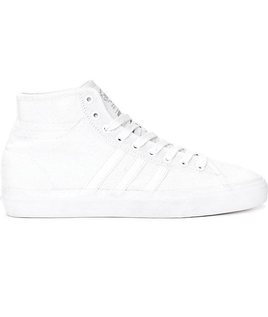 ... adidas Matchcourt Hi RX Mono White Canvas Shoes ... 49da294bd