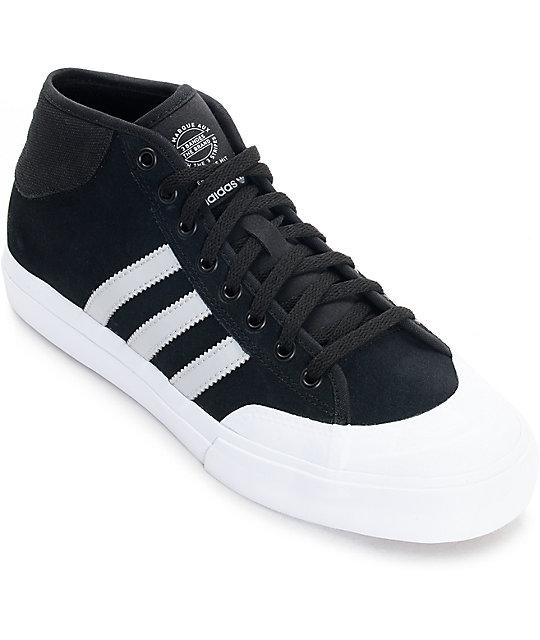 5c5712937db ... mens skate shoes 082c7 46f6a  best adidas matchcourt mid adv black grey white  shoes fb881 85ad8