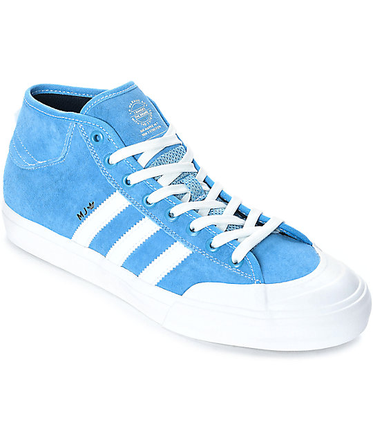 9582fd99d181b adidas Matchcourt Mid MJ Blue & White Shoes