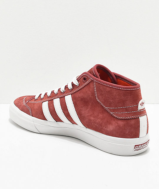 adidas Matchcourt Mid MJ Brick Red & White Shoes