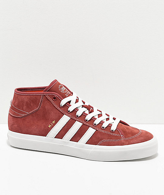 adidas Matchcourt Mid MJ Brick Red   White Shoes  bb35db090