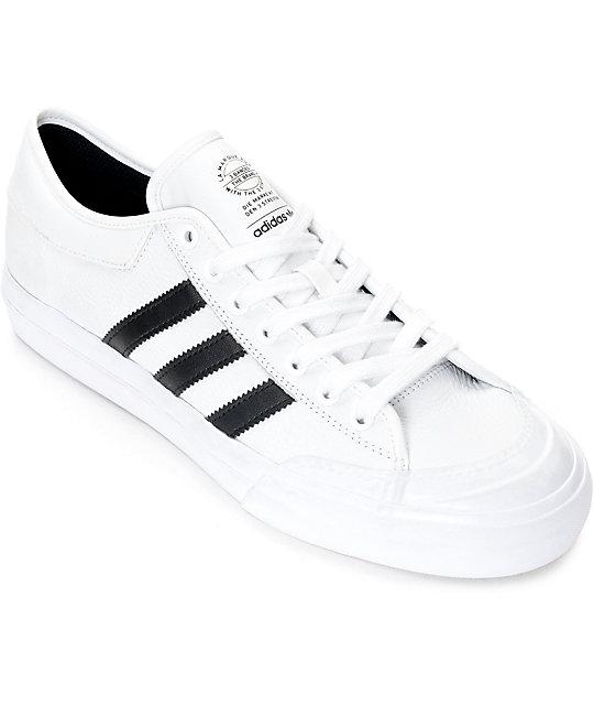 adidas Matchcourt White & Black Leather Shoes