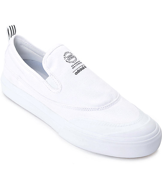adidas Matchcourt White Slip On Shoes ...