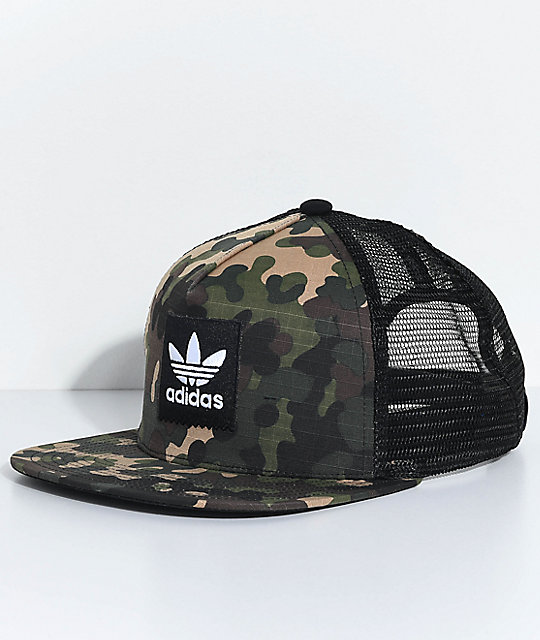 2d8ac52025812 adidas Men s Camo Trucker Hat