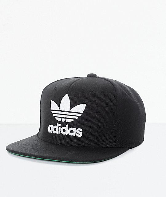 03b5060494a ... get adidas mens trefoil chain black white snapback hat ed7d4 cbff7