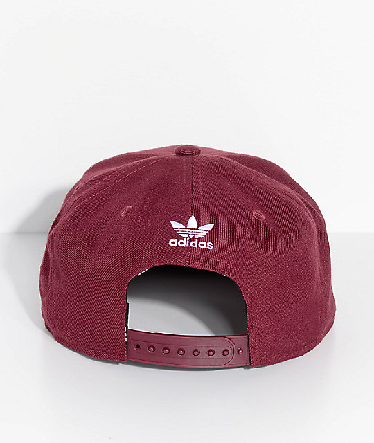 ... adidas Mens Trefoil Chain Maroon Snapback Hat ... outlet for sale ... 4d2cdf4d4843