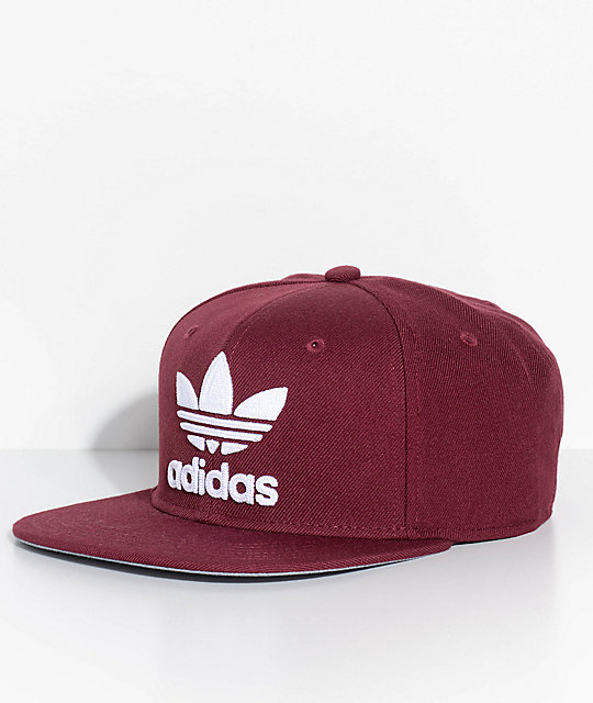 adidas Men s Trefoil Chain Maroon Snapback Hat  3ae5dcf40d5