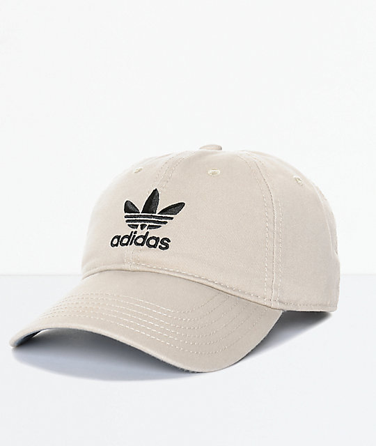 uk store save up to 80% really cheap adidas Men's Trefoil Curved Bill Khaki Strapback Hat