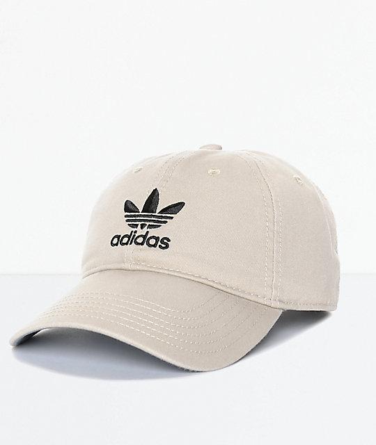 fbb8de8cb adidas Men's Trefoil Curved Bill Khaki Strapback Hat