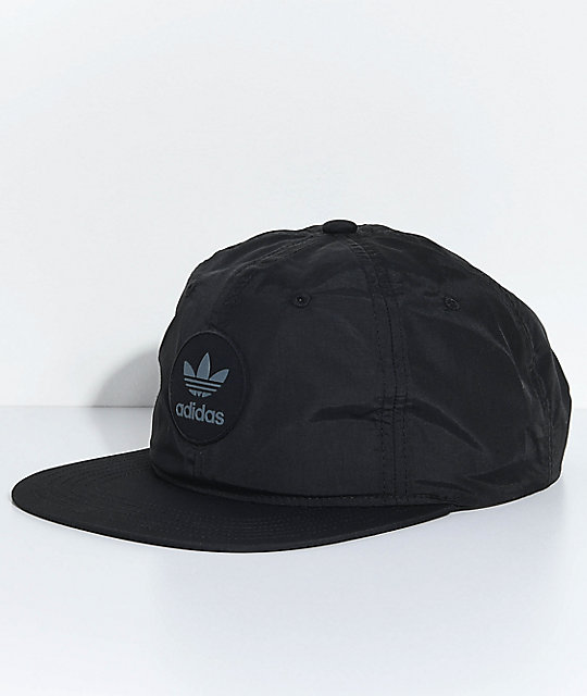 adidas Men s Trefoil Unstructured Black Snapback Hat  53da944da491