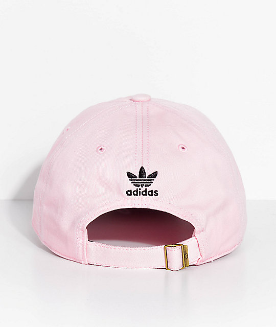 adidas Men's Trefoil Washed Pink Strapback Hat