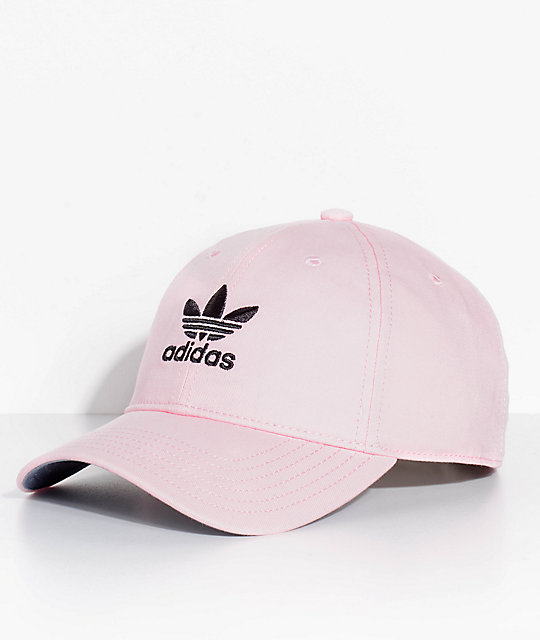342bb7ba adidas Men's Trefoil Washed Pink Strapback Hat | Zumiez