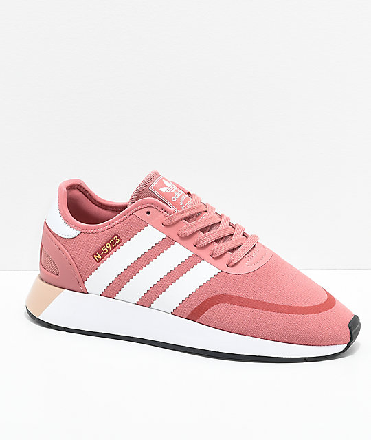 0ba6144d92b adidas N-5923 CLS Ash Pink   White Shoes