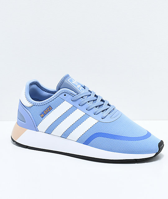 good selling reasonable price lower price with adidas N-5923 CLS Chalk Blue & White Shoes