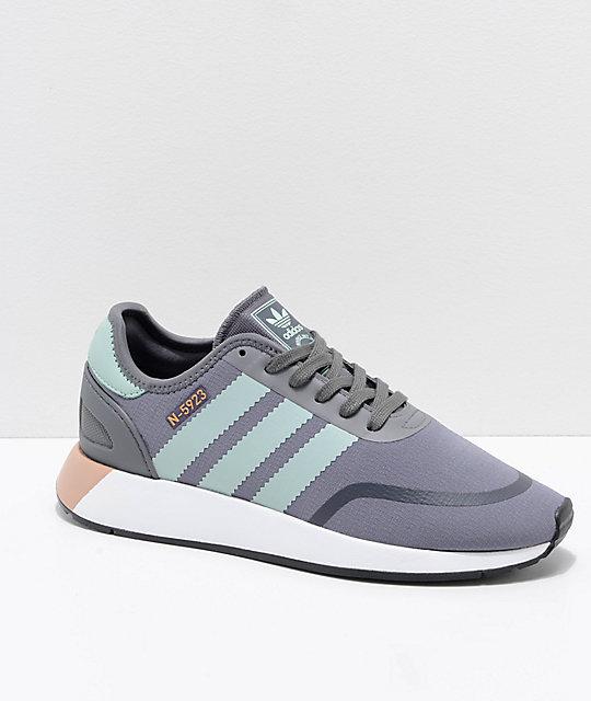 f7b4691d68a0f6 adidas N-5923 CLS Grey Flour   White Shoes