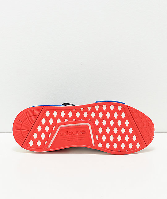 adidas shoes nmd black and red