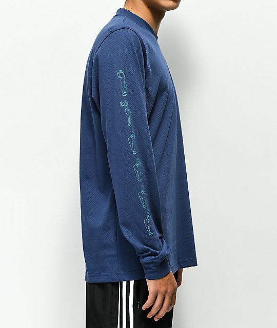 adidas Noble Indigo Mesh Long Sleeve Jersey