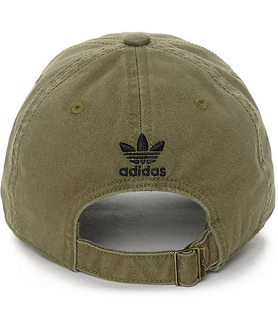 adidas Olive Baseball Hat  adidas Olive Baseball Hat ... d7840e7e547