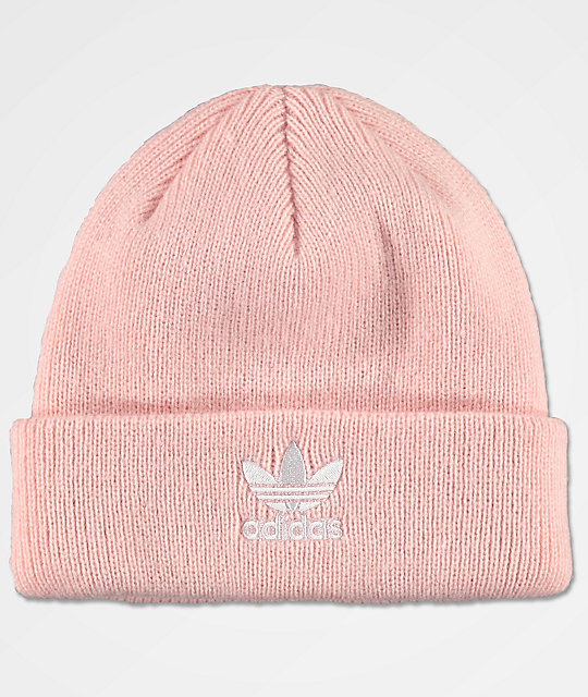 best website cheap for sale free delivery adidas Original Trefoil Icy Pink Fold Beanie