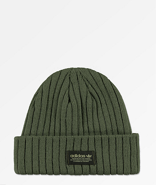 adidas Originals Base Green   Black Beanie  2deefd78b7a