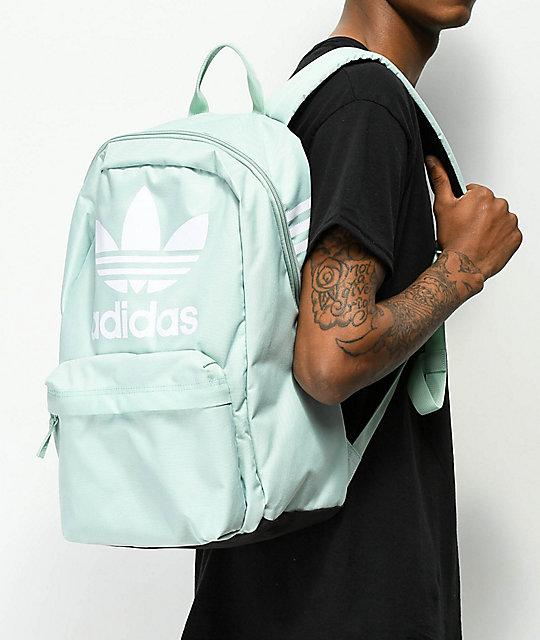 572d7e937d3df ... adidas Originals Big Logo Ash Green Backpack ...