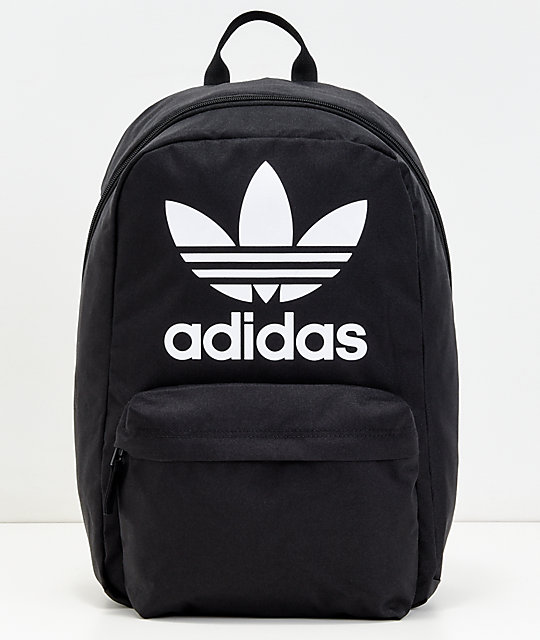 adidas Originals Big Logo Black Backpack | Zumiez