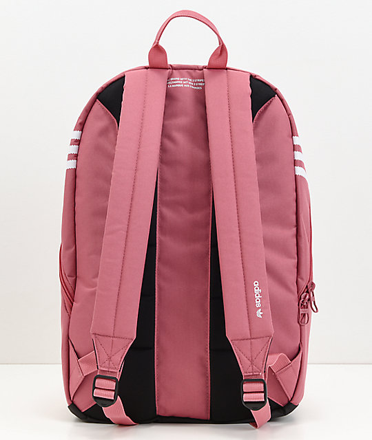 adidas Originals Big Logo Dark Pink Backpack