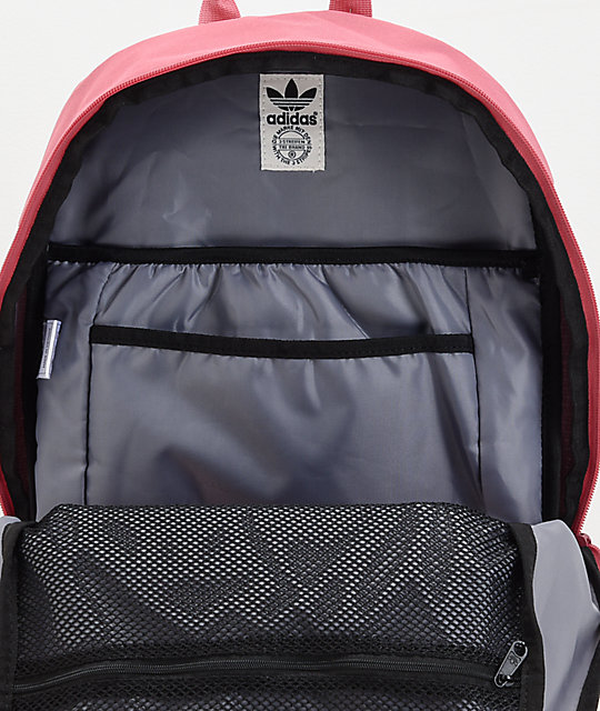 ... adidas Originals Big Logo Dark Pink Backpack d8b6e78a6cb12