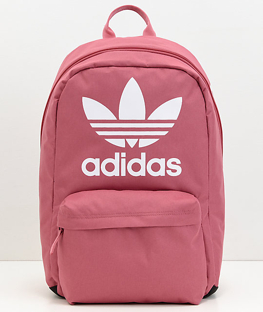 adidas Originals Big Logo Dark Pink Backpack  46a3c8ebf6970